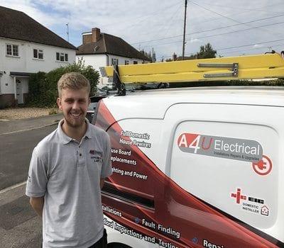 Luke Marsh in front of Aerials 4U van