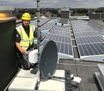 Paul Marsh - Senior Engineer on rooftop